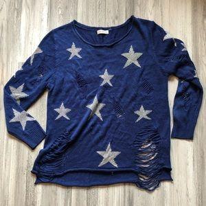 Love Tree Destroyed Star Sweater M/L